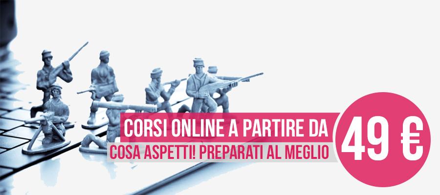 Corsi di Preparazione Online Concorsi Esercito